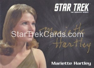 Star Trek The Original Series 50th Anniversary Trading Card Silver Autograph Mariette Hartley Gold Ink 1