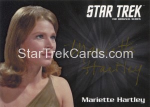 Star Trek The Original Series 50th Anniversary Trading Card Silver Autograph Mariette Hartley Gold Ink Alternate
