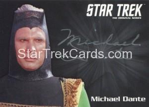Star Trek The Original Series 50th Anniversary Trading Card Silver Autograph Michael Dante