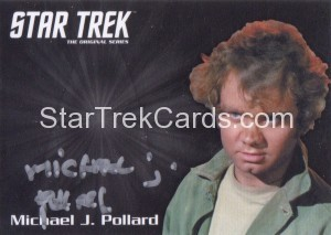 Star Trek The Original Series 50th Anniversary Trading Card Silver Autograph Michael J Pollard