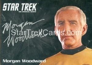 Star Trek The Original Series 50th Anniversary Trading Card Silver Autograph Morgan Woodward