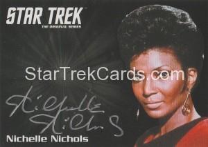 Star Trek The Original Series 50th Anniversary Trading Card Silver Autograph Nichelle Nichols
