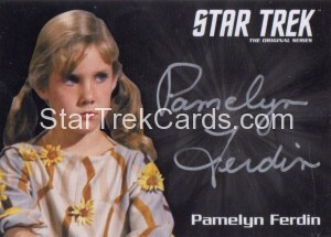 Star Trek The Original Series 50th Anniversary Trading Card Silver Autograph Pamelyn Ferdin
