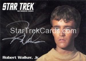 Star Trek The Original Series 50th Anniversary Trading Card Silver Autograph Robert Walker Jr