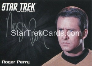 Star Trek The Original Series 50th Anniversary Trading Card Silver Autograph Roger Perry