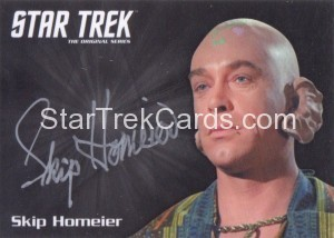 Star Trek The Original Series 50th Anniversary Trading Card Silver Autograph Skip Homeier