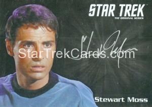 Star Trek The Original Series 50th Anniversary Trading Card Silver Autograph Stewart Moss