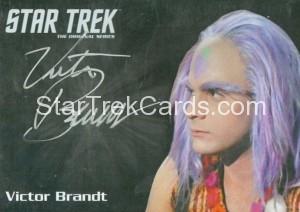 Star Trek The Original Series 50th Anniversary Trading Card Silver Autograph Victor Brandt