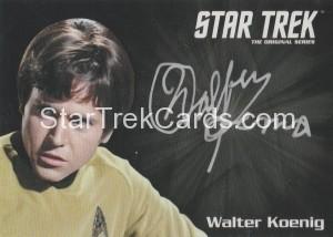 Star Trek The Original Series 50th Anniversary Trading Card Silver Autograph Walter Koenig