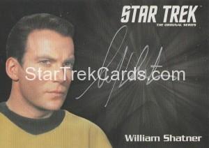 Star Trek The Original Series 50th Anniversary Trading Card Silver Autograph William Shatner