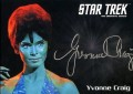 Star Trek The Original Series 50th Anniversary Trading Card Silver Autograph Yvonne Craig