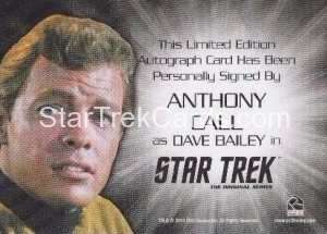 Star Trek The Original Series 50th Anniversary Trading Card Siver Autograph Anthony Call Back