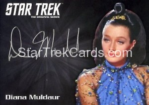 Star Trek The Original Series 50th Anniversary Trading Card Siver Autograph Diana Muldaur