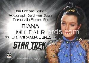 Star Trek The Original Series 50th Anniversary Trading Card Siver Autograph Diana Muldaur Back