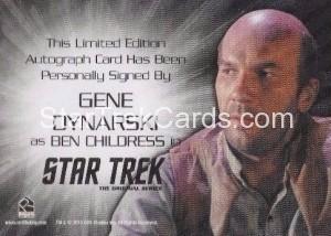 Star Trek The Original Series 50th Anniversary Trading Card Siver Autograph Gene Dynarski Back
