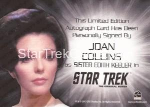 Star Trek The Original Series 50th Anniversary Trading Card Siver Autograph Joan Collins Back