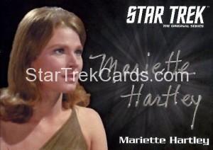 Star Trek The Original Series 50th Anniversary Trading Card Siver Autograph Mariette Hartley