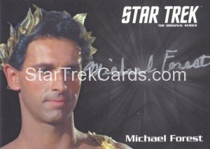 Star Trek The Original Series 50th Anniversary Trading Card Siver Autograph Michael Forest