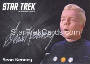 Star Trek The Original Series 50th Anniversary Trading Card Siver Autograph Sean Kenney