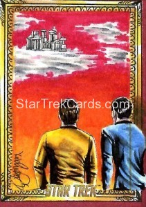 Star Trek The Original Series 50th Anniversary Trading Card Sketch Achilleas Kokkinakis Alternate