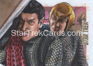 Star Trek The Original Series 50th Anniversary Trading Card Sketch Adam Bekah Cleveland Alternate