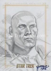 Star Trek The Original Series 50th Anniversary Trading Card Sketch Bien Flores 1