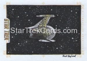 Star Trek The Original Series 50th Anniversary Trading Card Sketch Brent Ragland 1