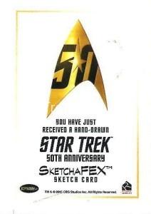 Star Trek The Original Series 50th Anniversary Trading Card Sketch Brent Ragland Back