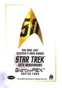 Star Trek The Original Series 50th Anniversary Trading Card Sketch Carlos Cabalerio Back