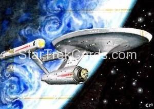 Star Trek The Original Series 50th Anniversary Trading Card Sketch Chris Meeks