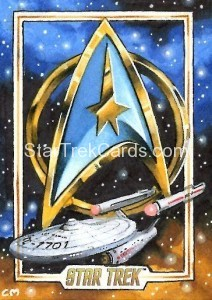 Star Trek The Original Series 50th Anniversary Trading Card Sketch Chris Meeks Alternate