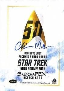 Star Trek The Original Series 50th Anniversary Trading Card Sketch Chris Meeks Back
