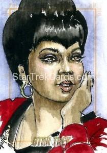 Star Trek The Original Series 50th Anniversary Trading Card Sketch Connie Faye Alternate