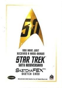 Star Trek The Original Series 50th Anniversary Trading Card Sketch Connie Faye Back