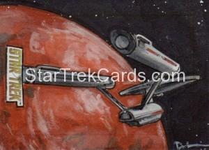 Star Trek The Original Series 50th Anniversary Trading Card Sketch Danny Silva Alternate