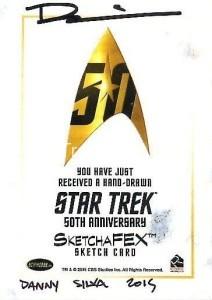 Star Trek The Original Series 50th Anniversary Trading Card Sketch Danny Silva Back