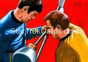 Star Trek The Original Series 50th Anniversary Trading Card Sketch David Day