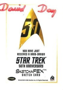 Star Trek The Original Series 50th Anniversary Trading Card Sketch David Day Back