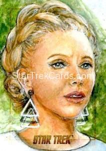 Star Trek The Original Series 50th Anniversary Trading Card Sketch Debbie Jackson Alternate