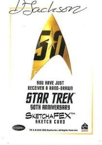 Star Trek The Original Series 50th Anniversary Trading Card Sketch Debbie Jackson Back