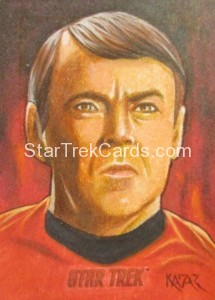 Star Trek The Original Series 50th Anniversary Trading Card Sketch Frank Kadar
