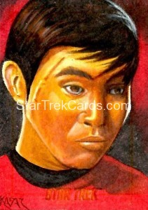Star Trek The Original Series 50th Anniversary Trading Card Sketch Frank Kadar Alternate