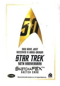 Star Trek The Original Series 50th Anniversary Trading Card Sketch Frank Kadar Back