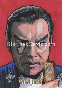 Star Trek The Original Series 50th Anniversary Trading Card Sketch Jason Kemp Alternate