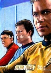 Star Trek The Original Series 50th Anniversary Trading Card Sketch Javier Gonzalez Alternate