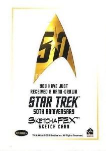 Star Trek The Original Series 50th Anniversary Trading Card Sketch Javier Gonzalez Back