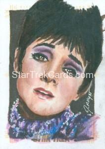 Star Trek The Original Series 50th Anniversary Trading Card Sketch Jennifer Allyn