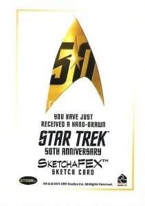 Star Trek The Original Series 50th Anniversary Trading Card Sketch Jomar Bulda Back