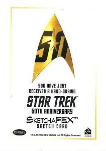Star Trek The Original Series 50th Anniversary Trading Card Sketch Jon Rademacher Back