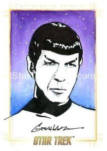 Star Trek The Original Series 50th Anniversary Trading Card Sketch Kevin Graham